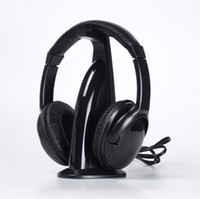 Wholesale Multifunction in HiFi Wireless Headphone Earphone Headset Wireless Monitor FM Radio MP3 PC TV Audio Phones