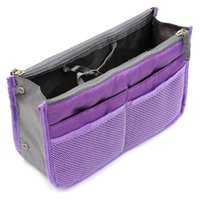bag organizer sale - Hot Sale Easy Carry Large Handbag Purse Dual Organizer Nylon cosmetic Storage Bags KC2
