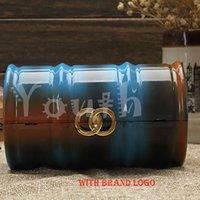 barrel cooler - Drum Bag Fashion Cool Acrylic Evening Bag Brand Tube Bag Barrel Handbag Painting Clutch Purse Stylish CC Banquet Bag A011