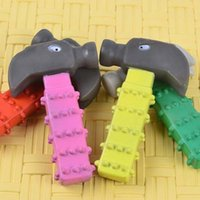 Wholesale 2016 new Best sells Pet sounding hammer toy for pet dog cat toy random colors dog products supplies