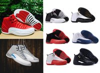 Wholesale 2016 cheap Retro XII mens basketball shoes Flu Game Alternate Gym Red ovo white Wolf Grey French Blue taxi playoffs cherry Sneakers