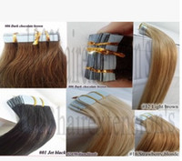 Wholesale Tape in Hair Extension g Blonde Ombre Skin Weft Straight Brazilian Human Hair Tape Hair Extensions