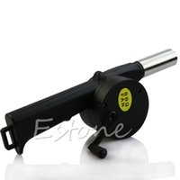 Wholesale Hand Crank BBQ Blower Fireplace Camping Bellows Grill Fire Starter Flame Exciter