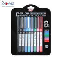ball coloring - 8PCS PVN snow mixed Elevators direct fluid Ball Pen Gel Color Series Secret Garden Coloring