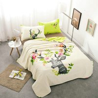 Wholesale Reindeer Style Air conditioning Blanket Thin Quilt Comforter Summer Quilts for Kids Adults Cotton Home Textile Gift Not Included Pillowcase