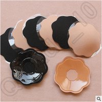 Cheap 300pair CCA4143 High Quality Sexy Reusable Women Silicone Strapless Self Adhesive Breast Nipple Petal Shape Pasties Cover Invisible Bra Pads