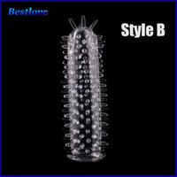 Wholesale Sleeve Men Delay Spray Cock Ring Adult Sex products Cock Sleeve Penis Extender Condoms