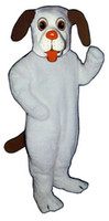 beagle costume - White Beagle Mascot Costume Fursuit Adult Size Realistic Beagle Dog Mascotte Carnival fancy dress kits for school party holiday