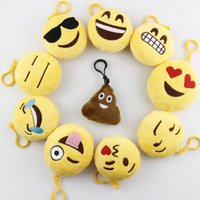 Wholesale new cm Emoji Smiley Small pendant QQ Expression Stuffed Plush doll toy for Mobile bag pendant