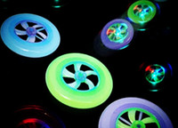 Wholesale 50pcs LED Light Spin Flywheel Outdoor Toy Flying Saucer Disc Frisbee kid toys Flying Saucer Disc Frisbee UFO Kids