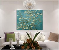 almond tree blossom - Blossoming Almond Tree Oil Painting Of Vincent Van Gogh Reproduction Canvas Print Painting Wall Art Picture For Home Decoration cm No F