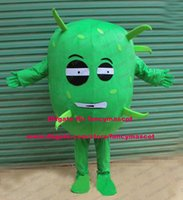 bacteria s - Dreadful Green Germ Bacteria Virus Inframicrobe Zymad Zyme Wog Mascot Costume Cartoon Character Mascotte Gracile Brows ZZ1367 FS