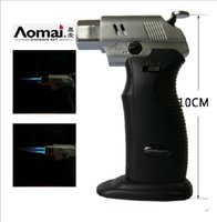 Wholesale AOMAI Adjustable Flame Butane Lghter Gas Lighter Jet Cigarette Welding Torch Lighter butane lighter gas lighter windproof lighter