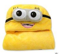 Wholesale The new children s bathrobe hooded cloak baby cloak soft bath towel cute baby cute little yellow people