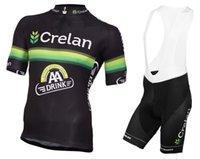 aa cycling - Mens Crelan AA Drink Black Cycling jersey Maillot ciclismo Road Bike clothes bicycle Cycling Clothing D11