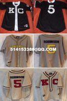 Wholesale Men s Jackie Robinson Kansas City Monarchs Negro league Throwback Retro Baseball Jersey embroidery jerseys