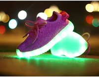 Wholesale usb charging breathable summer children basket led shoes kids with lights up luminous shoes for girls boys sneakers