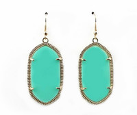 Wholesale Geometric Kendra Stone Earrings Scott Chandelier Earring Various Colors Gold or Silver Tonal Popular for Lady