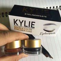 Wholesale New Stock Kylie Cosmetics Kylie Cosmetics Kylie Kyliner In Brown AND Black Kyliner Kit Eyeliner Cake Gei Eyeliner Paste kit gx2