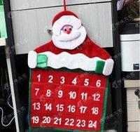 advent calendar for christmas - Santa Claus Father Christmas Advent Calendar Countdown Xmas Decor Fabric Pockets Christmas Decoration Supplies for HOME