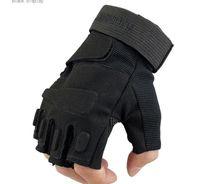adventure summer camp - Men s outdoor sports gym climbing adventure riding antiskid anticollision protective gloves tactics military gloves fingerless gloves