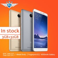 Wholesale Original Xiaomi Redmi Note Prime FDD Cell Phone MTK Helio X10 Octa Core MIUI7 Fingerprint Metal Body GB RAM GB ROM mAh