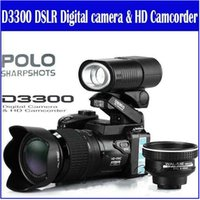 Wholesale New MP HD D3300 Digital Camcorder Camera Wide Angle Lens x Optical Telescope Lens D3000 D3200 Stock