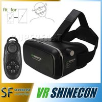 Wholesale VR Shinecon D Glasses Virtual Reality For Inch Smartphone And Bluetooth Remote VR Box For Iphone Android Cellphone in Retail Box