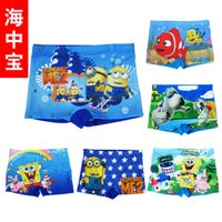 Cheap New kids Despicable Me Finding Nemo swim trunks children boys swimsuit kids beachwear cartoon Minions swimwear trunks Free shipping E1050