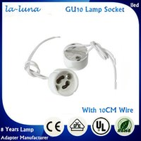 light socket - 2016 Ceramic Special Offer Gu10 Light Bulb Lamp Base Socket Adapter Holder Porcelain Halogen Led Lampholder Gu Connector Converter Wiring