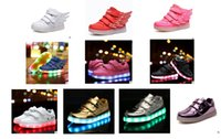 baby football shoes - Led Baby Girls Shoes Wing Newest Usb Charging Luminous LED Light Wings Children Sports Shoes Fashion Kids Casual Sneakers