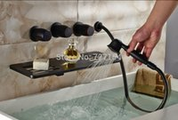 bathtub soap holder - New Oil Rubbed Bronze Bathtub Faucet Waterfall Spout With Soap Dish Holder