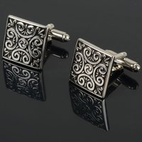 Wholesale Stainless Silver Mens Shirt Pattern Cuff Links E00049 CAD