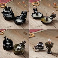 Wholesale A Heron Rising Flow Backwards Incense Burner Incense Ceramics Incense Burner Ornaments Use In The Home Office Teahouse