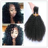 best braiding hair - Unprocessed Kinky Curly Human Braid Hair Bulk No Weft A Best Quality Peruvian Malaysian Mongolian Brazilian Curly Hair Extensions