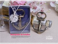 Wholesale new ideas wedding giveaways coppery Anchor Shaped Chrome Bottle Opener In Gift Box bridal favors wine opener