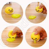 Wholesale New Cute Lazy Egg Toys Vomiting Yolk Brother Yolk Can Be Eaten Back Funny Decompression Toys Tricky Creative Toy CCA4838