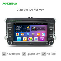 Wholesale Quad Core Android in dash Car DVD GPS Sat Navigation Bluetooth For Volkswagen PASSAT TIGUAN GOLF Polo Jetta MAGOTAN BORA CADDY TOURAN