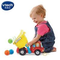 Wholesale VTech authentic VTech dumpers bilingual children puzzle Trolltech toy car drag acousto optic crawl