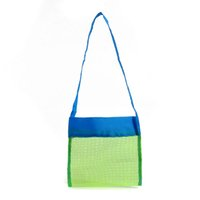 beach towel storage - 180pcs Children Sand Away Beach Mesh Bag Kid Beach Toys Clothes Towel Bag Boy Toy Collection Storage Organizer ZA0735