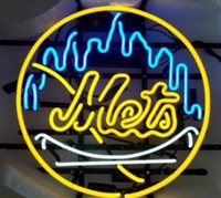 beer new york - New York Mets Glass Neon Sign Light Beer Bar Pub Arts Crafts Gifts Lighting Size quot