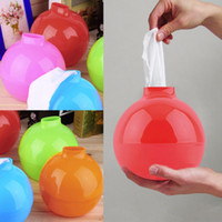 Wholesale Simple convenient Home Family Bomb Shape Pumping Paper Tissue Boxes Holder for Livingroom Bedroom Bathroom For Better Life