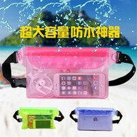 Wholesale Waterproof Pouch Bag Snowproof Dirtproof Sandproof Case Bag with Super Lightweight and Bigger Space Adjustable Extra Long Belt Free DHL