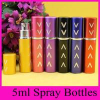 anodized aluminum shapes - 2016 ml Arrow shape Travel Anodized Aluminum Perfume Bottle Empty Perfume Spray Glass Scent Bottle