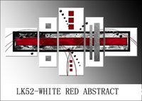Cheap LK52 5 Pcs Set Modern Wall Painting WHITE RED ABSTR Canvas Art Canvas Wall Picture Decoration Home Combined Modern Canvas Oil Art Prints