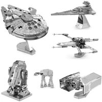Wholesale HOT Star wars DIY D Models ATAT Tie Fighter Kits Styles Metallic Nano Puzzle no glue required For adult Chirstmas gift Free DHL FedEx