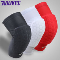 Wholesale New pair hex sponge knee pads leg compression sleeve knee braces for basketball kneepad support Sports Safety
