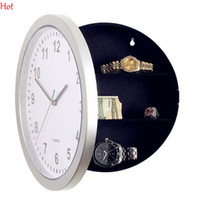 Wholesale New Quality Wall Safe Clock W Hidden Space For Valuables Decoration Jewelry Hidden Compartments Reloj Pared Creative Birthday Gift