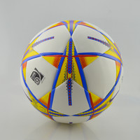 ball soccer official train - 2016 TOP quality SIZE5 PU TPU football soccer gaelic men training match official competition particle pattern glossy ball balls