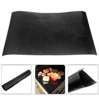 bbq accessories apron - Teflon Barbecue Grill Mat for Microwave Oven Outdoor BBQ Accessories x mm